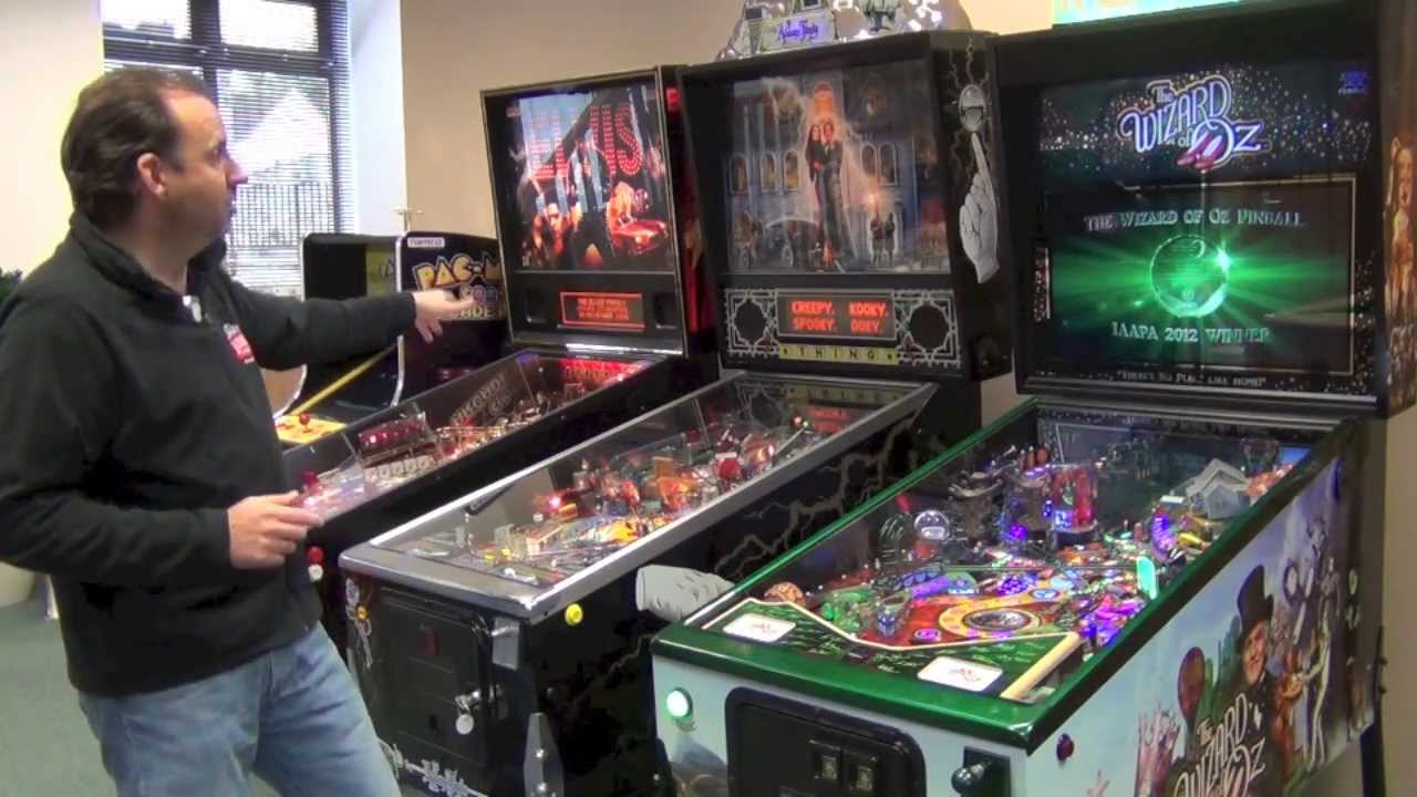 Setting Up Pinball Machines