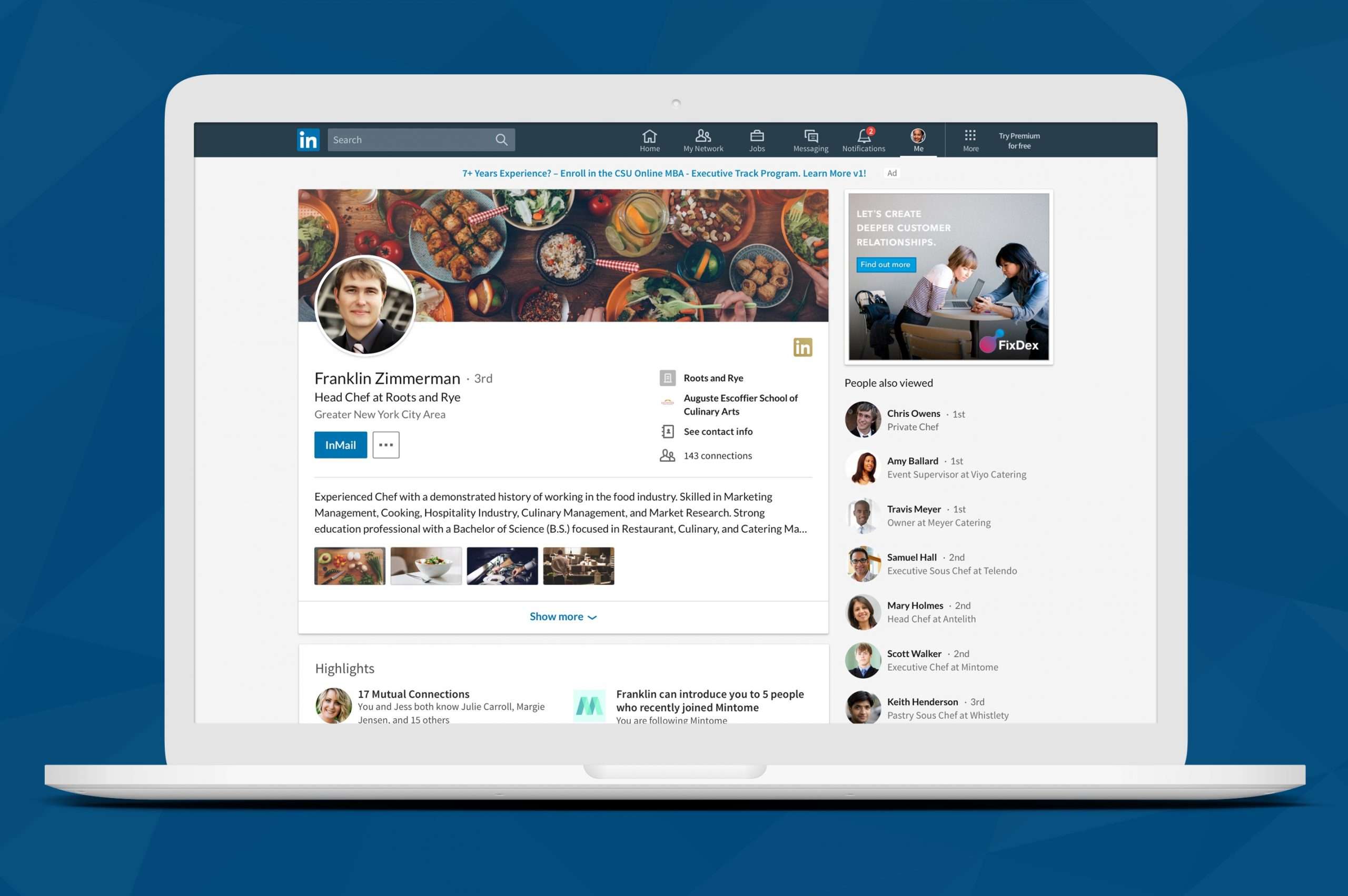Sync your LinkedIn profile with your resume